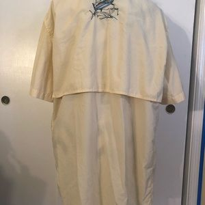 Guy Harvey Yellow Embroidered Back Vented Shirt